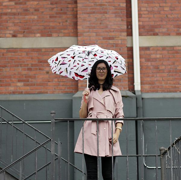 dvf lip print umbrella
