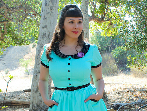 Erstwilder Retro Happy Traveler Pinup Girl Clothing DeeDee Dress 2