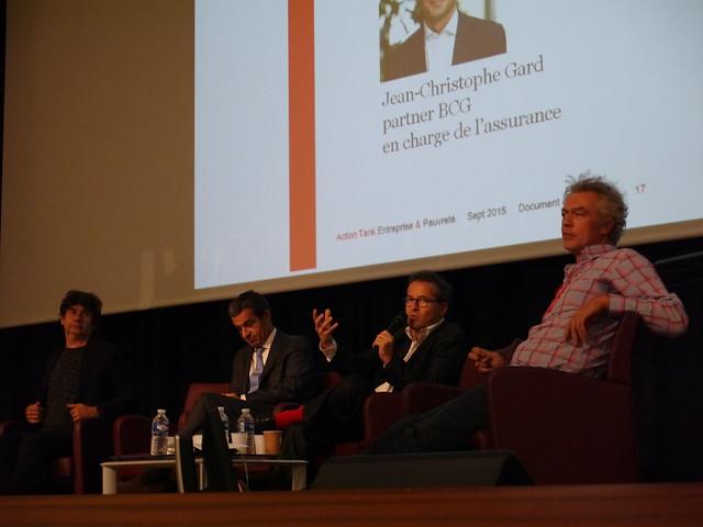 De gauche à droite, Bruno Rollet, Jean-Christophe Gard, Martin Hirsch et Jacques Berger
