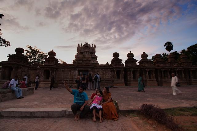 Family Selfie - Kailasanathar