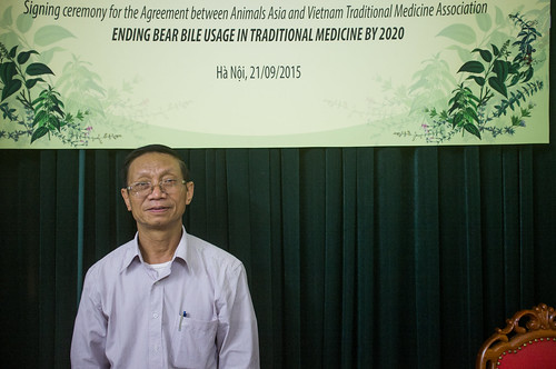 Dr Tran Van Ban, Chairman of the Vietnamese Traditional Medicine Association gave a speech at the press conference (2)