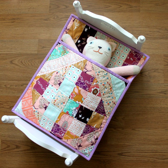 Doll Quilt  with Purple