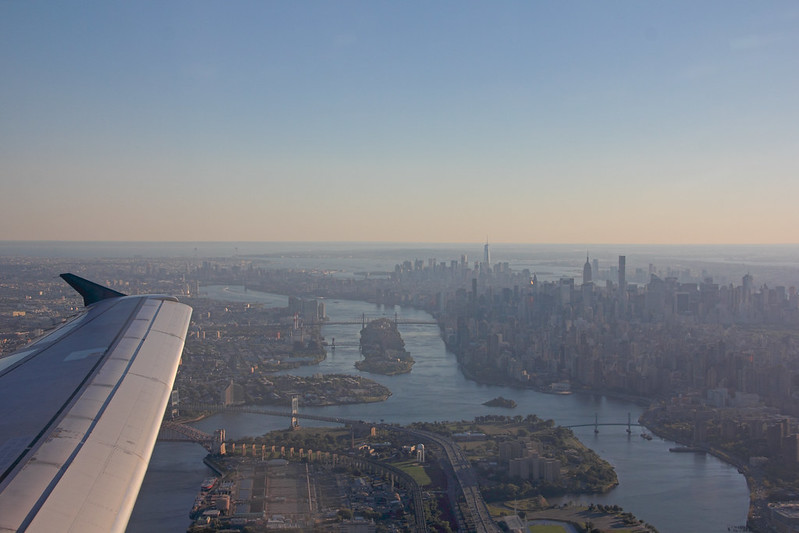 New York from Airplane
