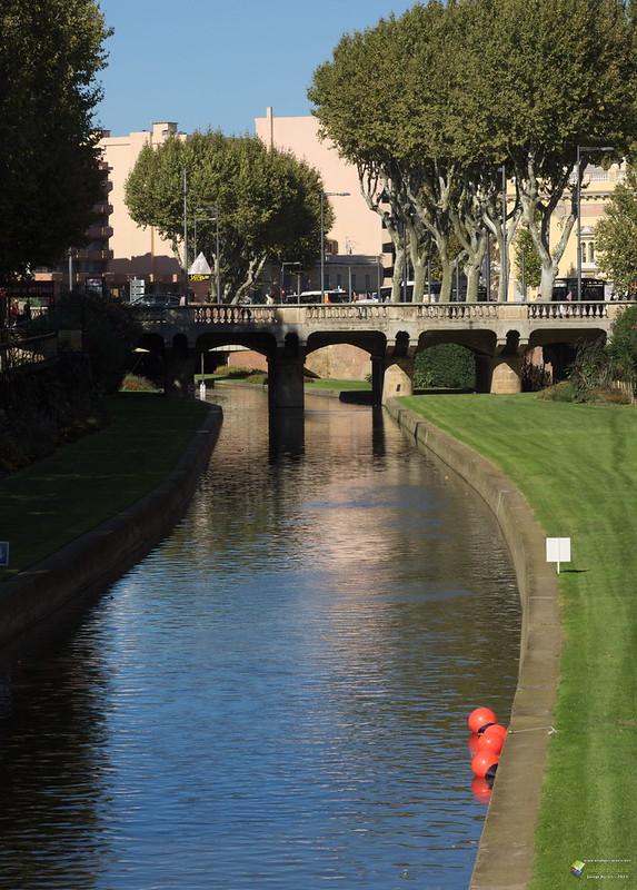 El Riu Tet al seu pas per Perpinyà