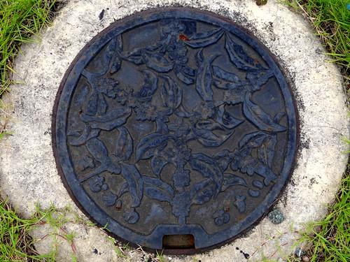 Samukawa Kanagawa, manhole cover 2 (神奈川県寒川町のマンホール2)
