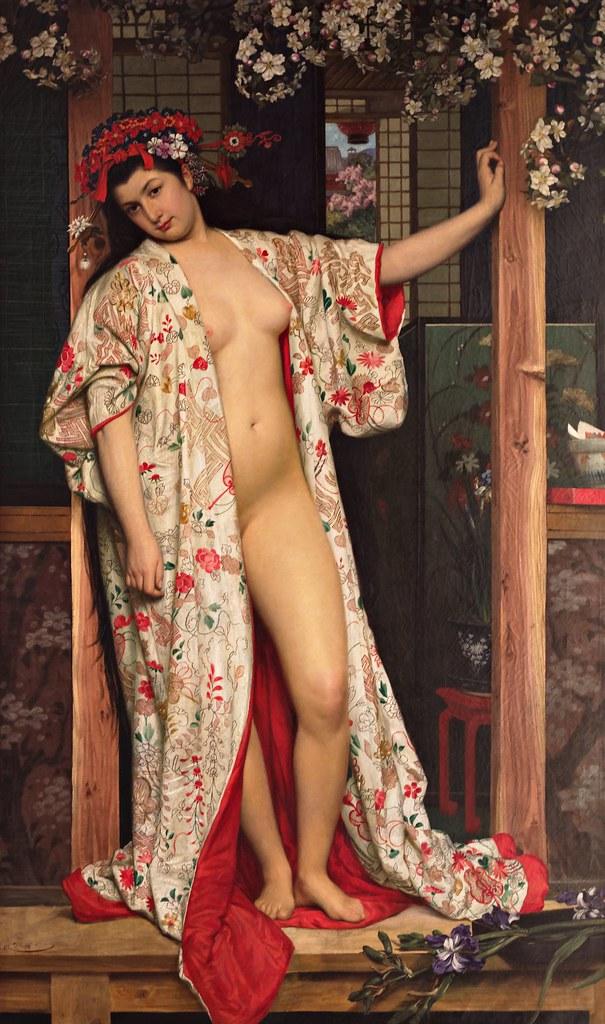 James Tissot - La Japonaise au bain (1864)