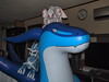 Inflatable Blue Zenith Dragon with Palkia and Dialga plushies by SpacetimePSD