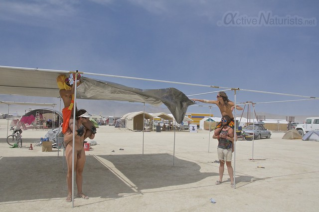 naturist gymnasium 0001 Burning Man 2015, Black Rock City, Nevada, USA
