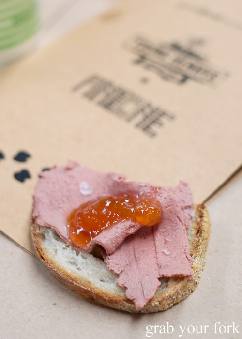 Hare liver parfait at the Feral Party by Pinbone at Young Henrys for Good Food Month 2015