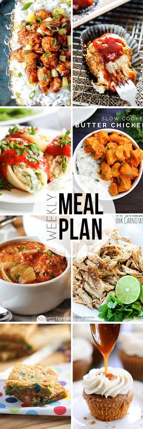 Week 18. Collaborative weekly meal planning collage.