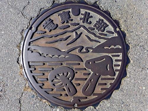 Komagane Nagano, manhole cover 5 (長野県駒ケ根市のマンホール5)