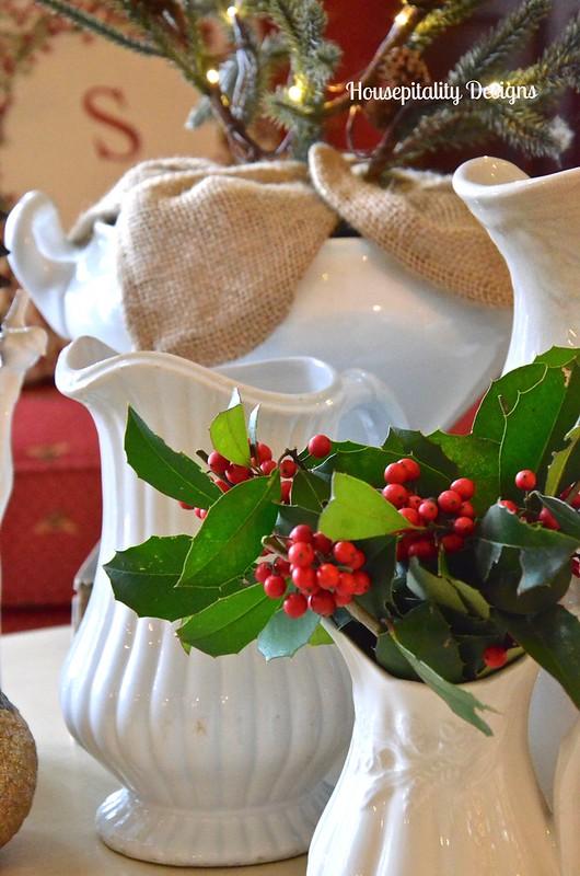 Vintage Ironstone Christmas Vignette - Housepitality Designs
