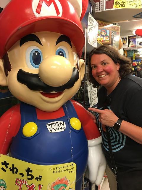 Mario and Amy at Super Potato Akihabara