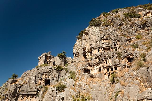 Lycian tombs in Myra/Demre, Turkey.