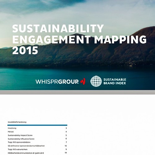 sustainability engagement mapping 2015