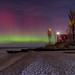 Point Betsie aurora in the moonlight by Michigan Nut