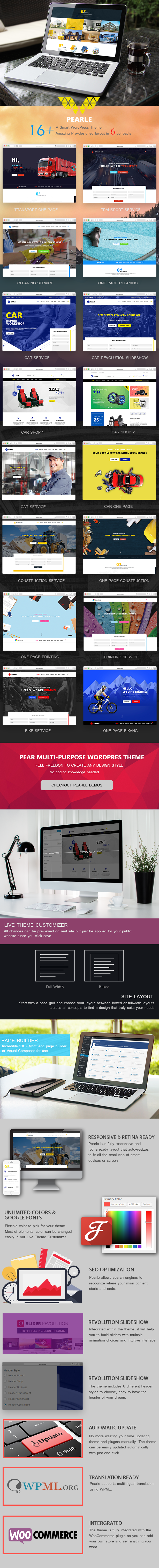 Pearle - Multipurpose WordPress Theme