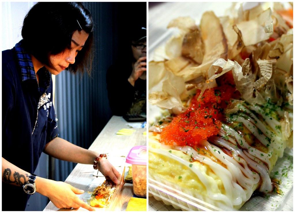 Taipei Night Market Trail: roahe night market omelette