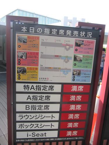 京都競馬場の指定席一覧