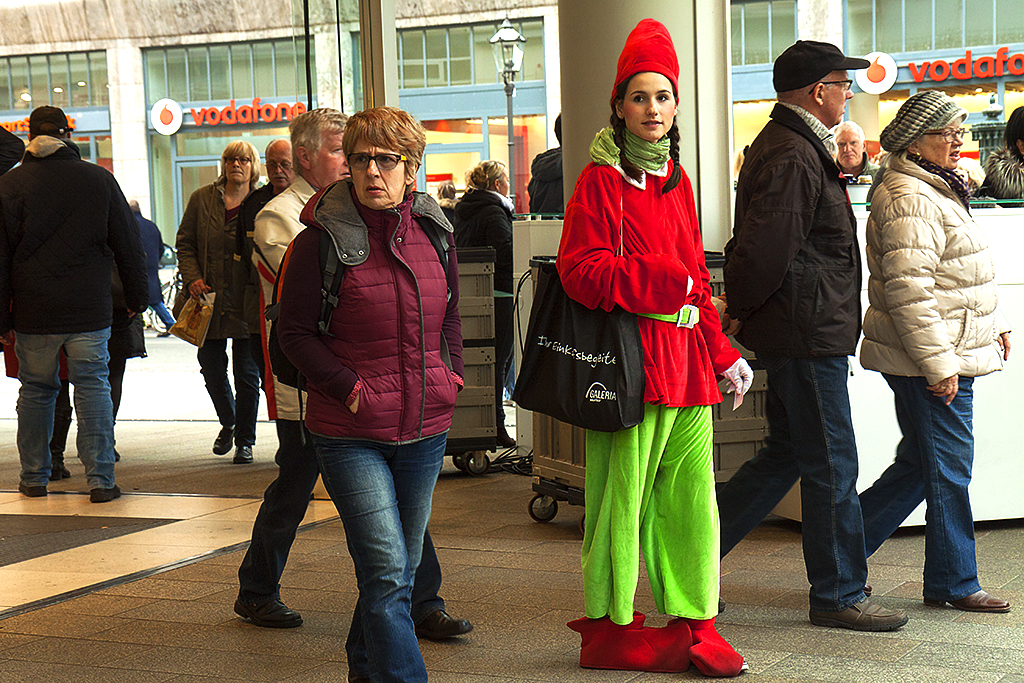 Young woman in elf custome--Leipzig