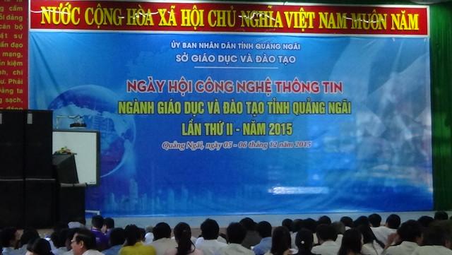 Ngày hội Công nghệ thông tin ngành Giáo dục và Đào tạo tỉnh Quảng Ngãi lần thứ II, năm 2015