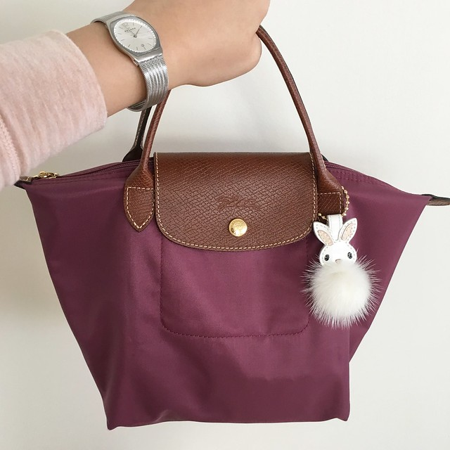 Longchamp Mini Le Pliage in Fig