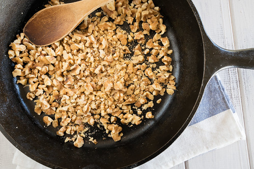 toasting the walnuts enhances their flavor