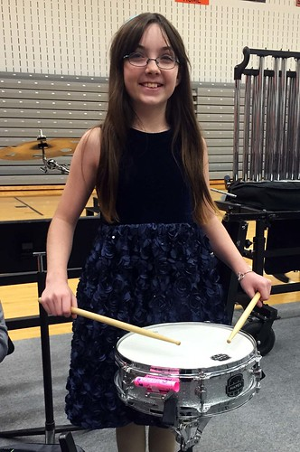 My little drummer girl