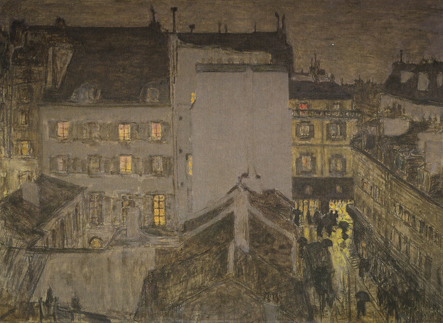 Pierre Bonnard - Montmartre in the Rain, 1897 at Van Gogh Museum Amsterdam Netherlands