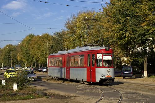 me tram romania streetcar halle iasi ratp 139 gt4 linie3 880 hallesaale rumänien mfe trambahn tramvai esslinger iași strasenbahn ratc maschinenfabrikesslingen ratpiasi