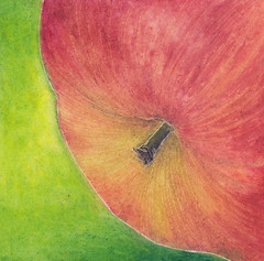 Apple no. 01 ~ oil pastel