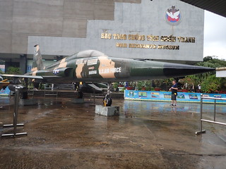 Old fighter at War Museum. Saigon.