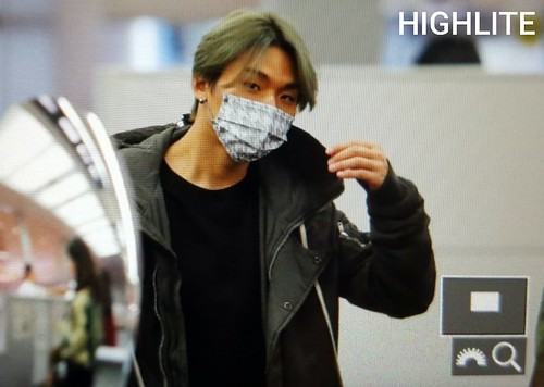 YB Dae TOP arrival Seoul from Nagoya 2016-12-05 (3)