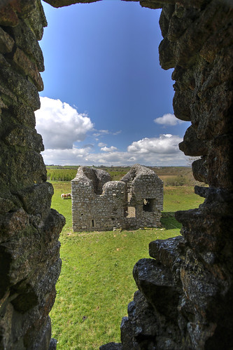 corner tower through Ballyloughlan Castle window