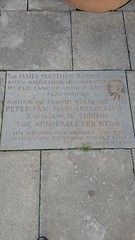 Photo of James M. Barrie stone plaque