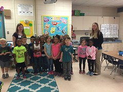 Ashley Hardy and Cassidy Watford - Community Bank - Three Rivers Elementary - Kindergarten