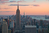 "Sunset in New York from ""Top of the Rock"", Rockefeller Center. by Carlos Arriero"