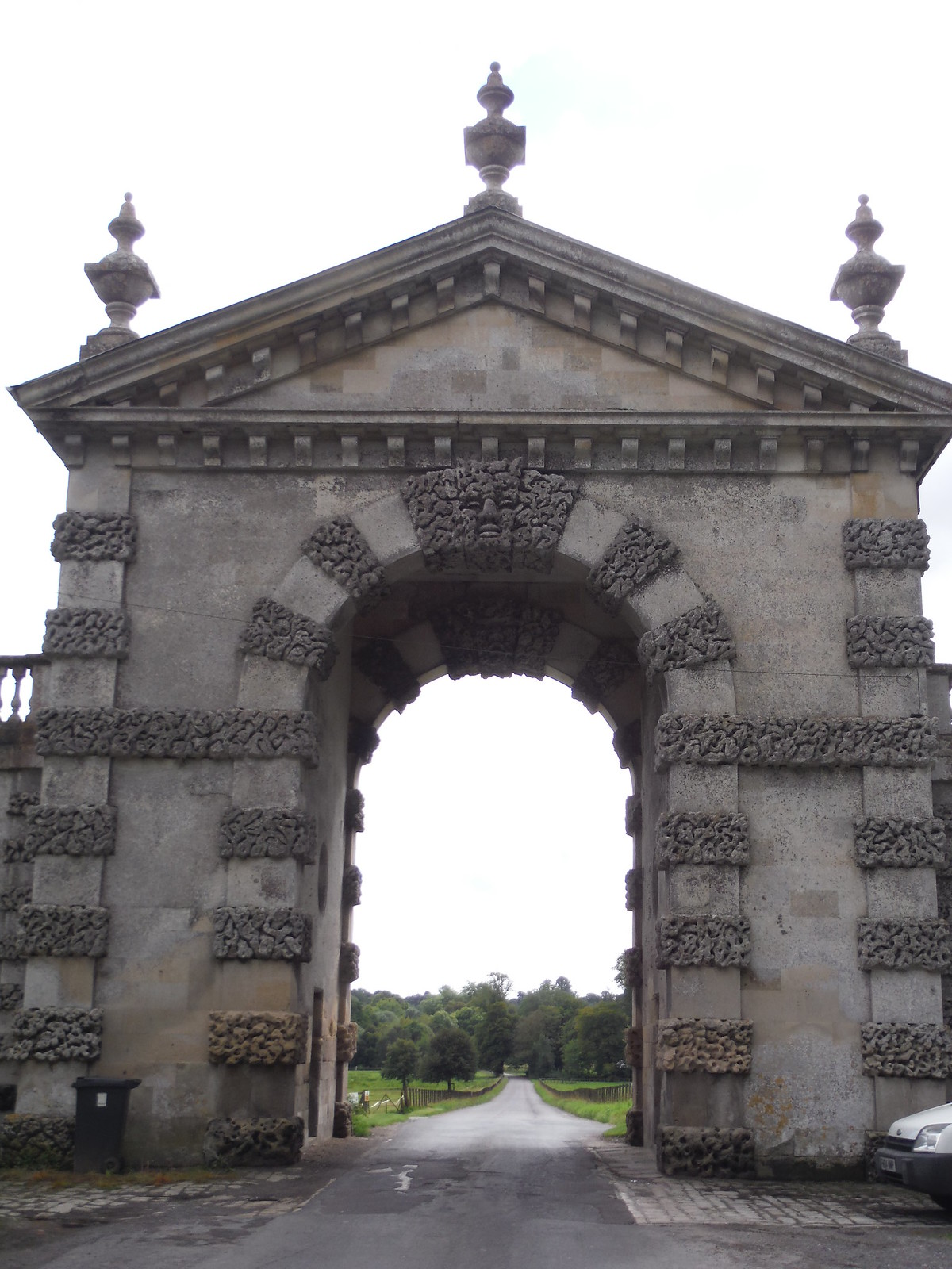 Fonthill Estate Entrance Arch (Close Up) SWC Walk 248 Tisbury Circular via Hindon