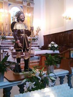 Casamassima- San Roccuccio esposto presso la chiesa del Purgatorio