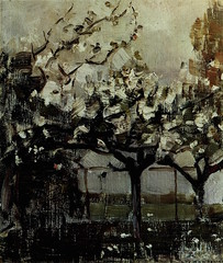 Trees before 1908, oil on canvas, i 8 | × 17 m (48 × 43 cm) Slijper collection, Blaricum