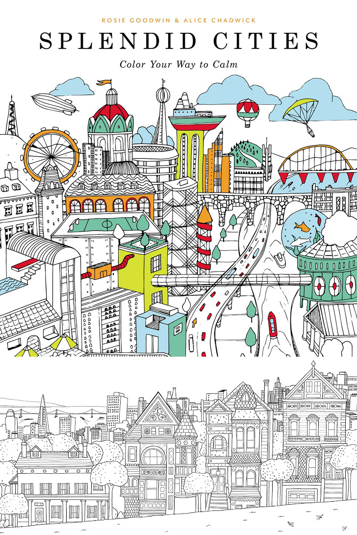 Splendid Cities Finding Peace 11 Beautiful Adult Coloring Books For Inexpensive Date Ideas