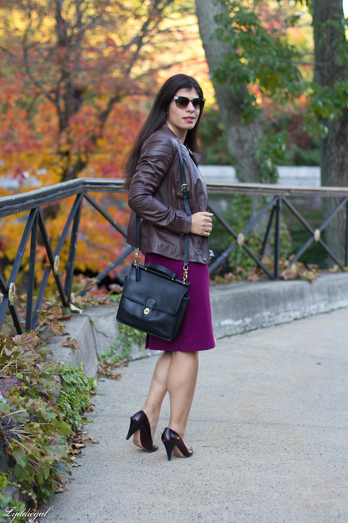 purple pencil skirt, leopard blouse, leather jacket-2.jpg