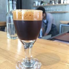 1st time trying shakerato (iced espresso that is shaken like a martini)♡ @mr.frank_kosuke   #coffeestandfrank #shakerato #kobe #hyogo
