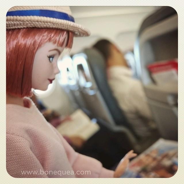 Volando a la Convención de Barbie