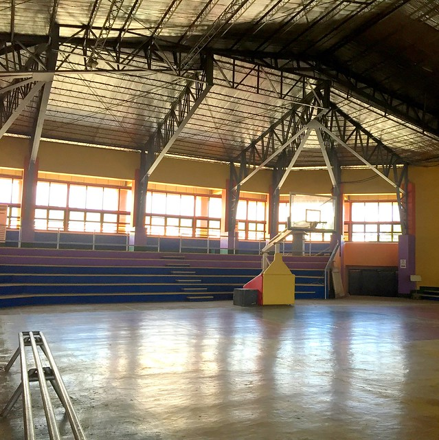 The newly-rehabilitated Tabango Civic Center - July 2015