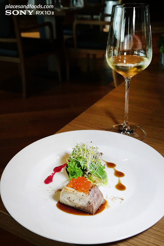 the oak room nexus bangsar south seared hamachi