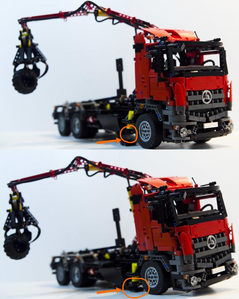 lego technic mercedes arocs hook lift hds a photo on. Black Bedroom Furniture Sets. Home Design Ideas