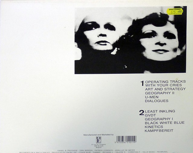 "FRONT 242 GEOGRAPHY 12"" LP VINYL"