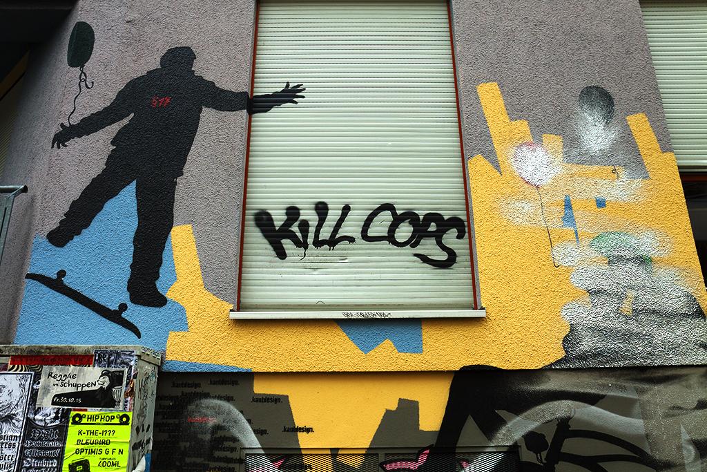 KILL COPS graffiti in Connewitz--Leipzig