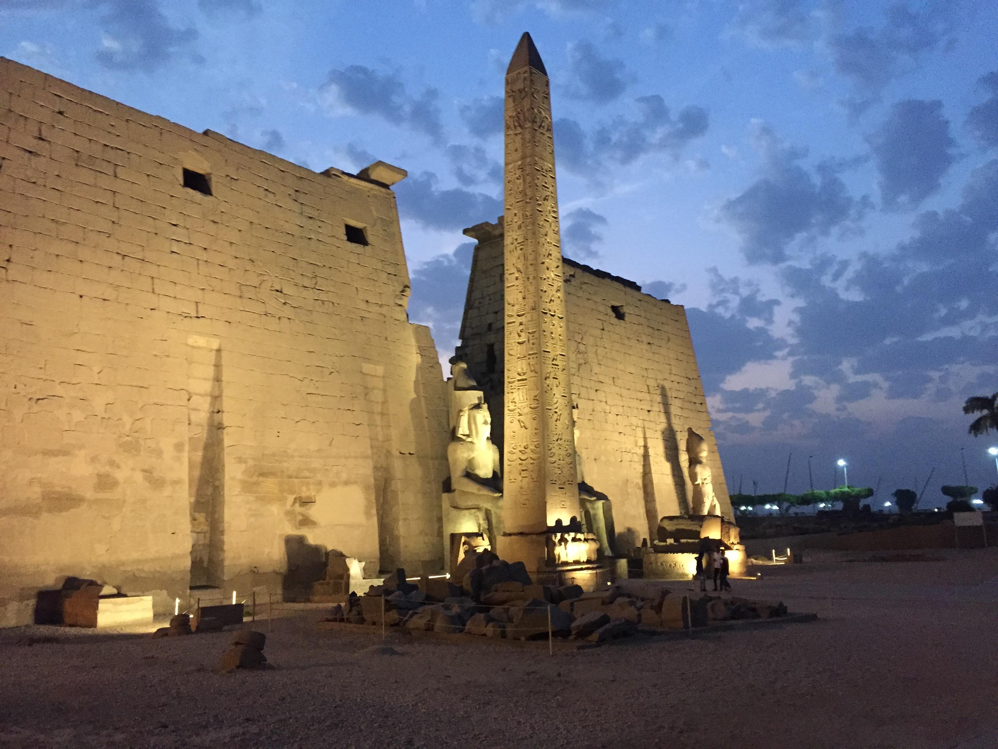 Luxor-Tempel Eingangsbereich